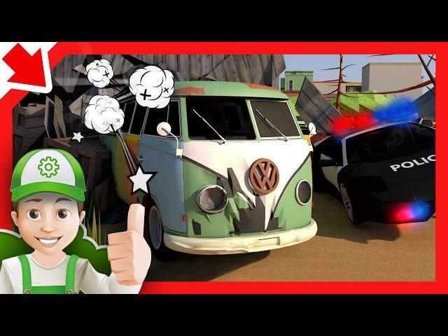 Mobil polisi mainan. Polisi kecil kartun Sirine mobil polisi Kartun mobil polisi anak Animasi polisi