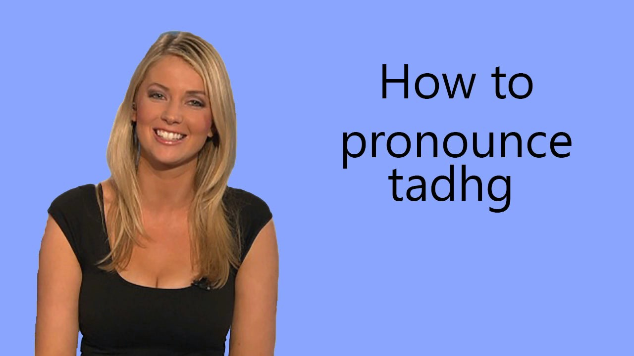 How to pronounce tadhg - YouTube