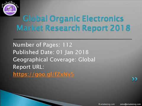 Organic Electronics market Features, Grow Pricing, Resources and Revenue