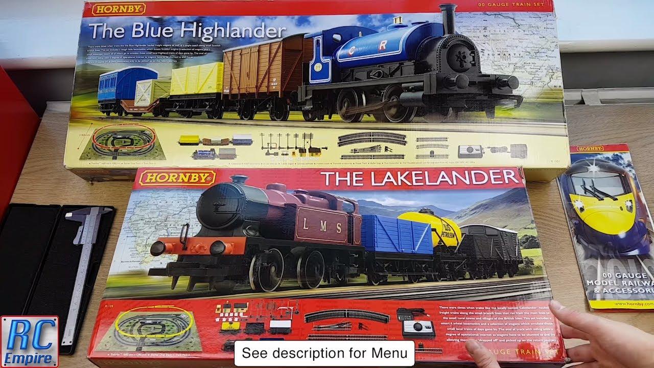 Hornby Train Sets  Unboxing, Inspection, setup and Running: The Lakelander  and Blue Highlander