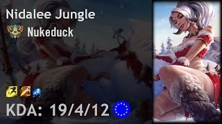Nidalee Jungle vs Hecarim - Nukeduck - EUW Challenger Patch 6.24
