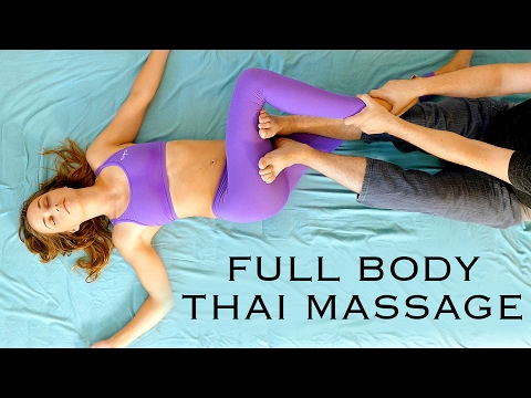 Full Body Thai Massage Tutoral with Robert | Pain Relief, Massage Techniques, How To
