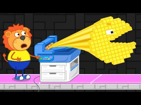 Lion Family Arcade Game 4 PacMan is back Cartoon for Kids