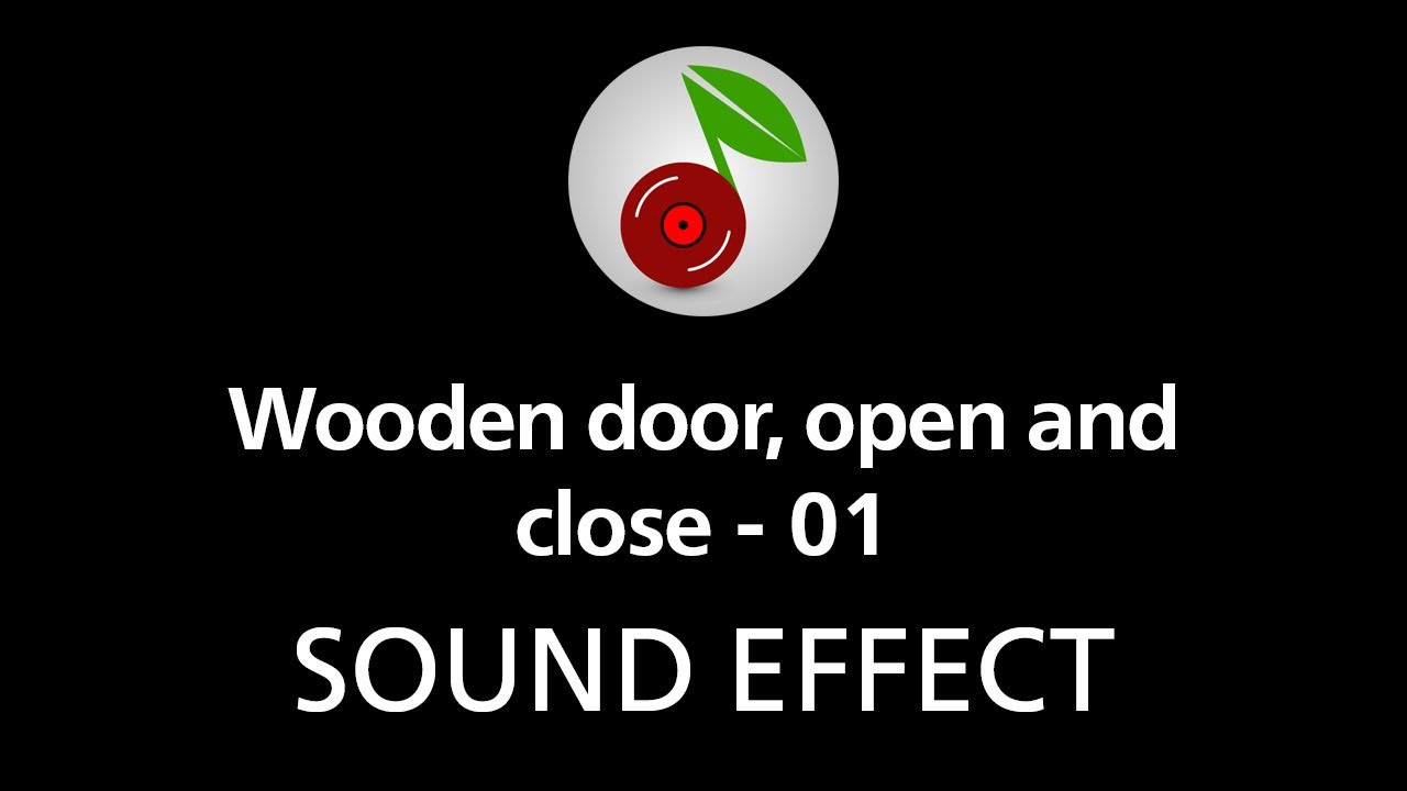 Wooden door open and close 01 sound effect youtube for Door opening sound effect