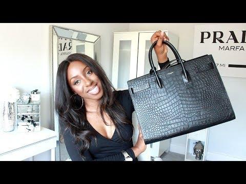 New Designer Handbag Unboxing - Saint Laurent Sac De Jour Croc Effect   Style With Substance