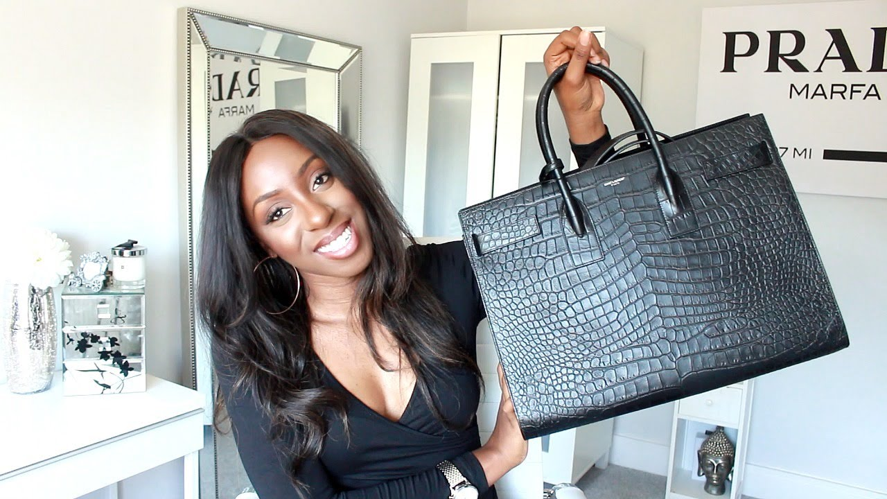 bf903b3de3b2a New Designer Handbag Unboxing - Saint Laurent Sac De Jour Croc Effect