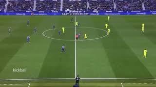 Cuplikan pertandingan levante vs barca 2-1 copa del rey