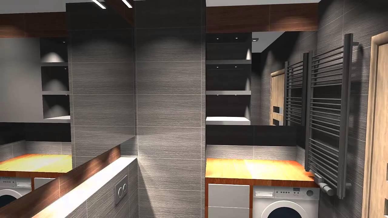 łazienka Szara W Połączeniu Z Drewnem By Jl Studioprojektpl Youtube