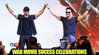 Hrithik Roshan & Tiger Shroff's ZABARDAST MACHO ENTRY Togther At WAR Movie Sμcess Celebrations