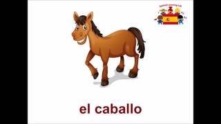 Farm animals in Spanish - Animales de granja - Learn Spanish