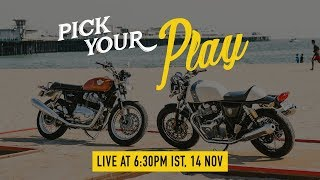 LIVE #PickYourPlay - Royal Enfield Twins Price Reveal - India