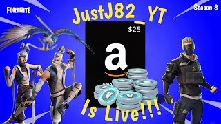 FORTNITE SEASON 8-25$ Amazon Code Giveaway At 500 Subs!! Going For Solo W #7