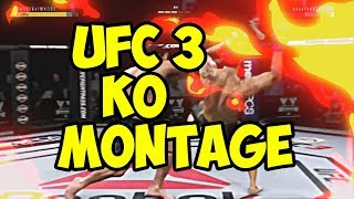 GREATEST UFC 3 KO MONTAGE !!! EA Sports UFC 3