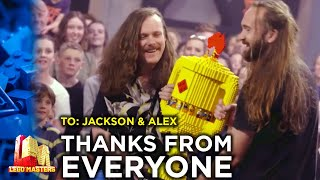 Fellow contestants show their appreciation to the WINNERS | LEGO Masters Australia | CheepJokes