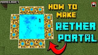 AETHER PORTAL !! How To Make an AETHER PORTAL in Minecraft PE !! (Aerther Portal Addon)