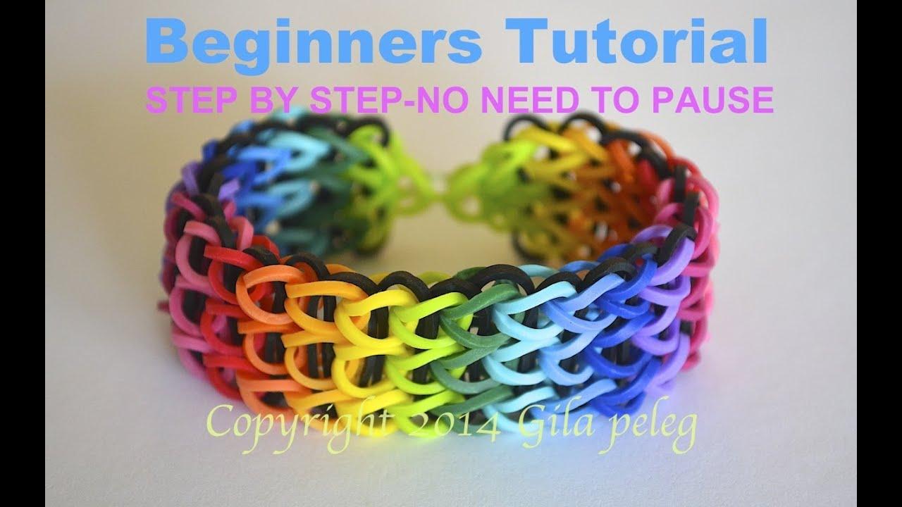 Rainbow Loom Multicolor Triple Single Bracelet For Beginners Step By You
