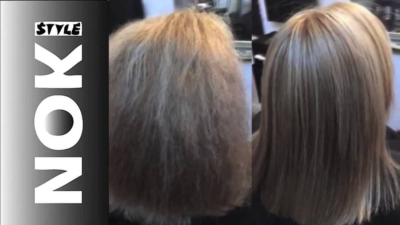 Brazilian Blowdrys Glasgow Client Hairstyle Before After