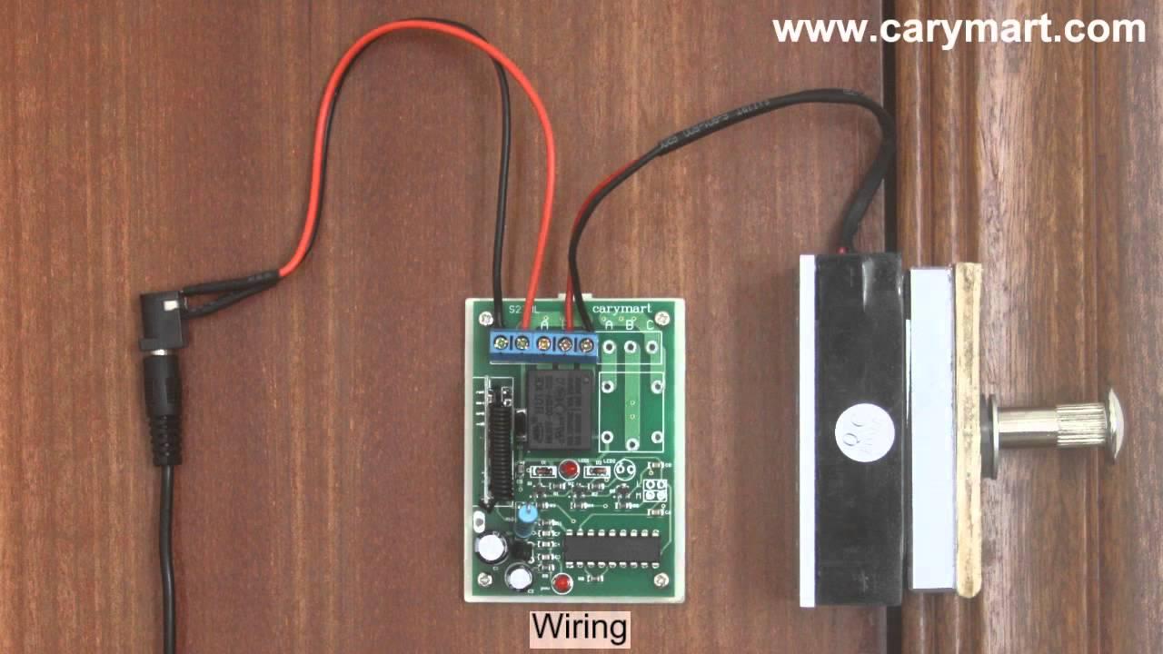 Wireless Remote Control Electromagic Lock  YouTube