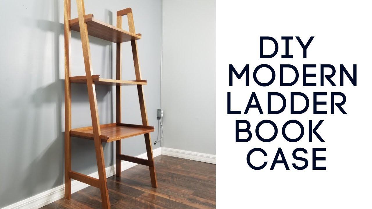 Diy Modern Ladder Bookcase Build