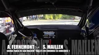 A. Fernemont - S. Maillen SKODA Fabia R5 SAN Mazuin Rallye du Condroz 2018 ES Bodegnée 1