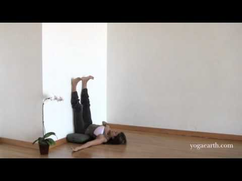 prenatal yoga pose viparita karani legs up the wall with