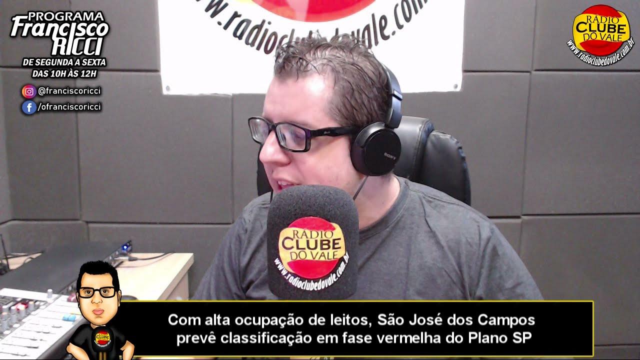 Com alta ocupação de leitos, São José dos Campos prevê classificação em fase vermelha do Plano SP