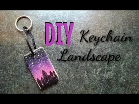 Making a painted Key Chain Landscape from old wood