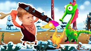 Игра про Динозавров для Детей Защищаем Яйцо от Траглодитов #18 Мультик про Динозавров Lion boy