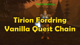 Tirion Fordring Vanilla Quest Chain