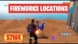 Launch Fireworks All 3 Locations Season 7 Week 4 Challenges Fortnite Battle Royale