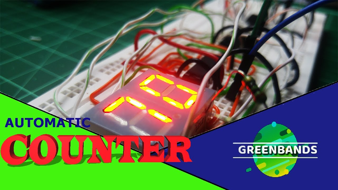 How To Make Automatic Counter Circuit With Seven Segment Display Led 7 Count Down Alarm