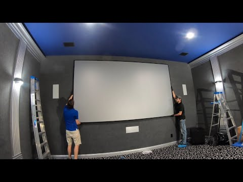 Insane 160 inch Screen innovations Slate 1.2 Sony 695 Native 4K Home Theater!!