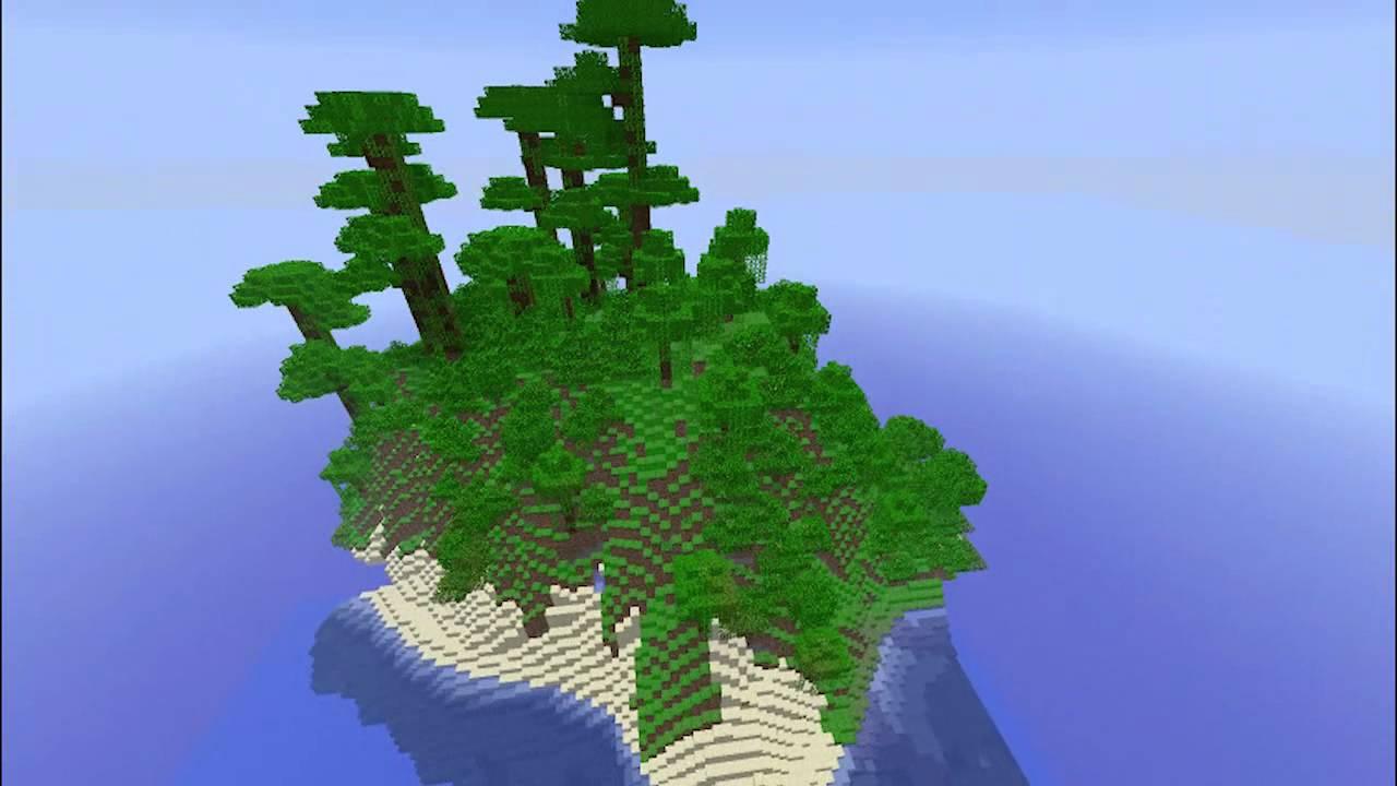 Epischer Minecraft Seed Einsame Dschungel Insel Youtube