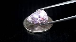 LUXURIOUS 5.96ct Untreated Natural Pear Rich Pink Kunzite Brazil