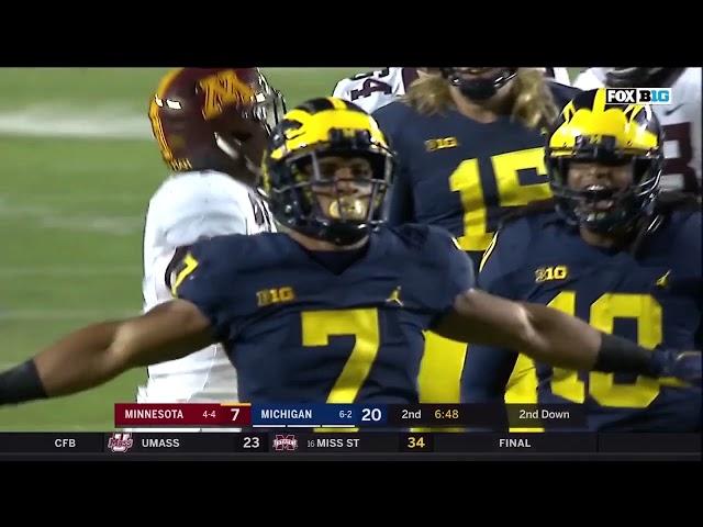2017 Michigan Football Season Highlights - Every TFL from the Regular Season