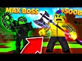 BUYING A 500,000,000,000 MAX WEAPON AND FIGHTING THE MAX BOSS! (Roblox Warrior Simulator)
