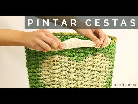 C mo pintar cestas de la ropa para decorar habitaci n for Como aprovechar una cesta de mimbre