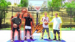 BROS vs BROS BASKETBALL SHOOTING CHALLENGE 2vs2!!