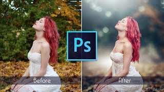 Photoshop cc Tutorial : Outdoor Portrait Retouching 📷 - August 2017