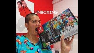 Unboxing Nintendo Swicht edición especial Super Smash Bros ultimate