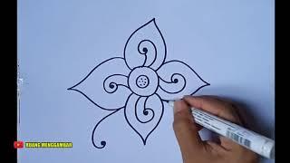 Contoh Ragam Hias Batik Flora Yang Mudah Digambar Cute766