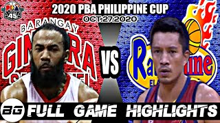 Full Game Highlights: Ginebra vs Rain or Shine | 2020 PBA Philippine Cup | October 27, 2020