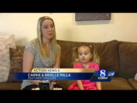 Three-year old Salinas girl featured on Ellen DeGeneres Show