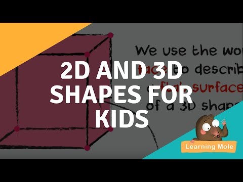 2d and 3d Shapes for Kids - Learn the Names of all 2D and 3D Geometric Shapes with Pictures.