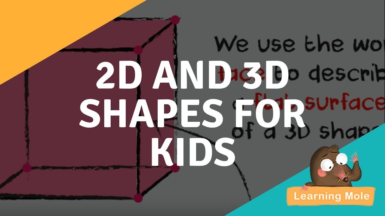 Learn the Names of All 2D and 3D Geometric Shapes for Kids