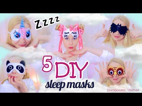 5 DIY Adorable Sleep Masks – How To Make An Eye Mask For Sleeping
