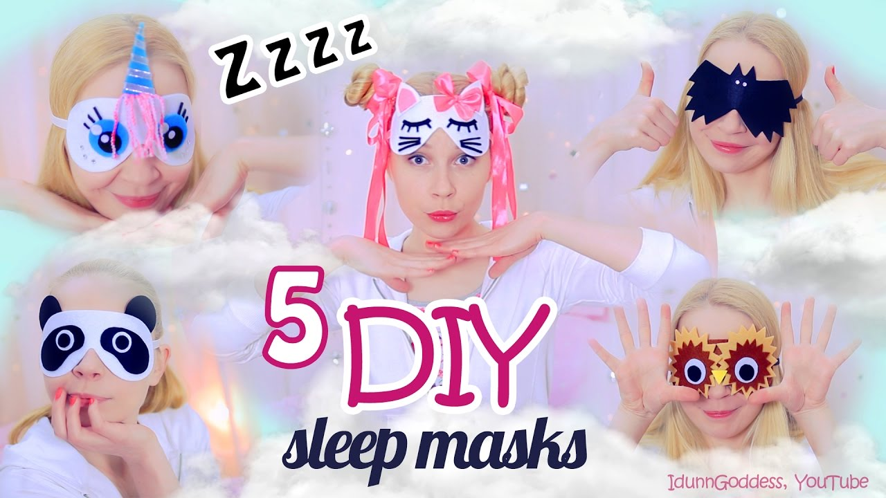 5 DIY Adorable Sleep Masks – How To Make An Eye Mask For Sleeping