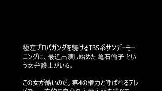 卑劣な女、亀石倫子(弁護士)=スターリニストの赤い悪魔~TVでのコメを批判され「ブロック」 亀石倫子 検索動画 17