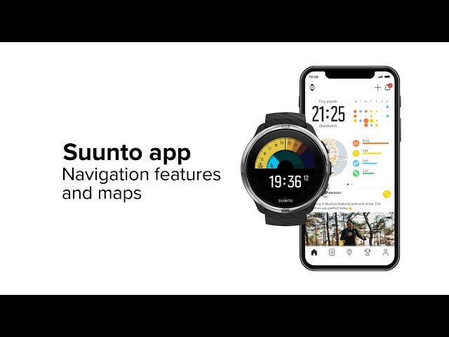 Suunto app - Navigation features and maps