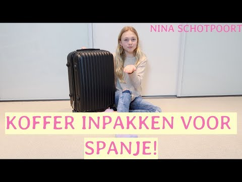KOFFER INPAKKEN VOOR SPANJE!!☀️🌵-NINA SCHOTPOORT
